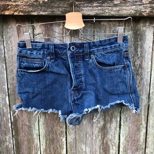 Free People Cutoff Denim Shorts Women's Size 25